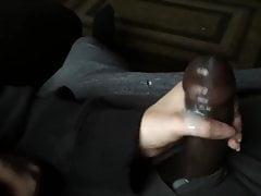 Dildo nero con una bella sega
