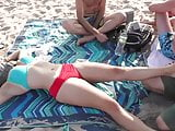Sexy Massage on New York Public Beach