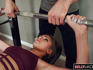 Blonde Blowjob Creampie video: Toned Babe Athena Faris Earns A Creampie When Working Out