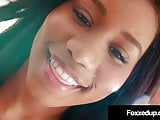 Young Black Beauty Jenna Foxx Spreads Legs In Hot Lingerie!