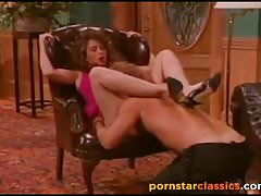 Retro-Fan-Lieblings-Pornostar Christy Canyon schlug hart