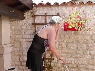Big Tits Milf Mature video: Busty grandma fucks her pussy