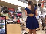 Upskirt Blue Panties Teen