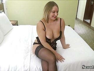 German Amateur Big Cock video: German Teen Fuck with Stranger and Swallow His load