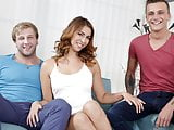 Ani Blackfox enjoys bisexual threesome