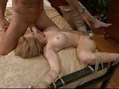 Tied to the bed and fucked in the ass