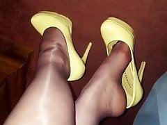 Gambe in nylon mature