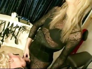 Bdsm Shemale Latex Shemale Lingerie Shemale video: The mistress with her shemale and crossdress slave