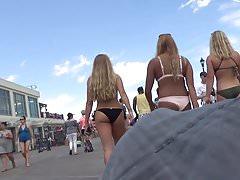 Hot Bikini Babe Back n Front