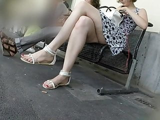 candid lovely legs and feet