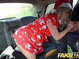 Fake Taxi Festive taxi fuck and facial finish for blonde