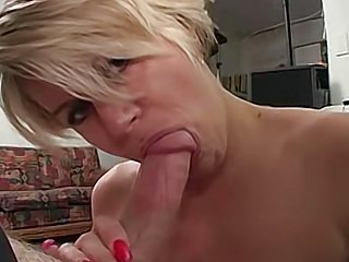 Amateur Blondes Big Boobs video: Busty blonde wife strips then sucks