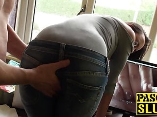Bdsm Blowjob Big Cock video: Young English beauty ass fucked in a rough sex session