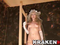 Krakenhot - Young Bridein ein hausgemachtes BDSM Casting