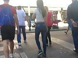 sweet candid tight jeans girl hot slut