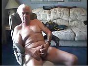 Old man of 70 age cum in cam