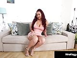 Curvy Babe Nina Kayy Squirts While Using Dildo & Hitachi!