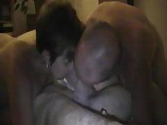 White Cuckold Couple Teilen Weißer Hahn