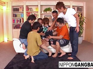 Gangbang Hardcore Asian video: Hot Japanese teacher is punished in front of her students