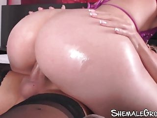 Shemale Fucks Girl Shemale Big Tits Shemale Lingerie Shemale video: Tgirl with massive tits goes deep inside dripping wet pussy