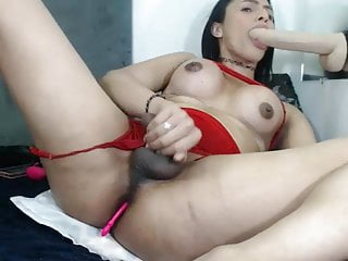 Big Tits Shemale Big Cock Shemale Solo Shemale video: Torture, Cum, Lactation...Sasha is so Dirty