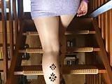 Short skirt and high heels upskirt