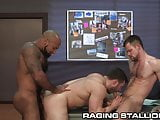 RagingStallion Hairy Interracial Muscle Hunk Group Sex