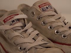 My Sister's Shoes: Converse low white (dirty) I 4K