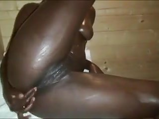 Interracial Babes American video: black panther in sauna