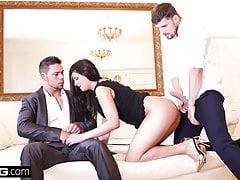 Coco De Mal cums più difficile quando ottiene doppia penetrazione