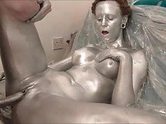 Silver Paint Solo Sex
