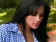 Brunette Tranny Miriam Rivera Fucking Hard Outdoor