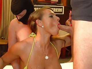 Bukkake Big Tits Milf video: Sexy Susi fucks them all