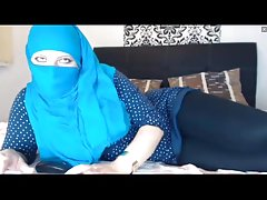 Hidżab Dziewczyna Noszenie przez Legginsy