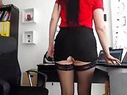 rica secretaria en webcam