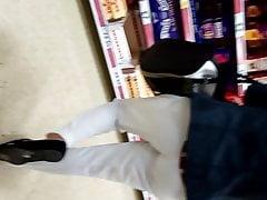 Candid Indian Milf pantaloni bianchi vpl pt2