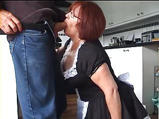 Matures Grannies British video: Velmadoo the French maid gagging on cock part 1