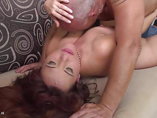 .Lovely mothers gets some hard sex.