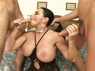 MILF and 3 guys