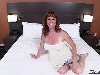 .Beautiful Redhead Cougar Fucks Big Cock POV.