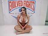 Powerful Brandi Mae takes on novice wrestler Marcello
