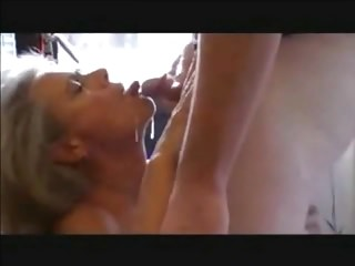 Matures Oldyoung Cum In Mouth video: Mature Loves Young Cum
