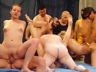 Group Sex Gangbang Bukkake video: wild german swinger party orgy
