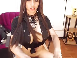Masturbation Shemale Big Tits Shemale movie: Huge Tits Shemale Jerks Off her Big Cock