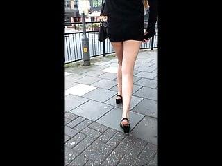Foot Fetish Teen Babe video: Candid Teen Miniskirt