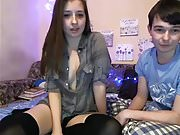 College couple sex cam show
