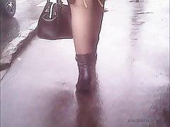 Reife sexy Beine in Strumpfhosen! Amateur versteckte Kamera!