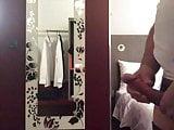 Cumming in Hotel room