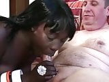 Ebony fuck white Older man