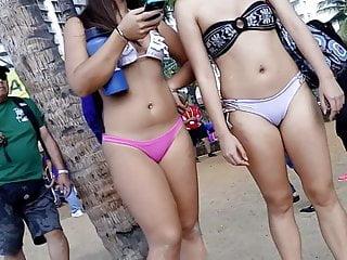 Hidden Camera Hd Videos video: Candid Bikini 04 - slut pair